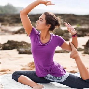 Athleta Front Knot Active Tee S NEW